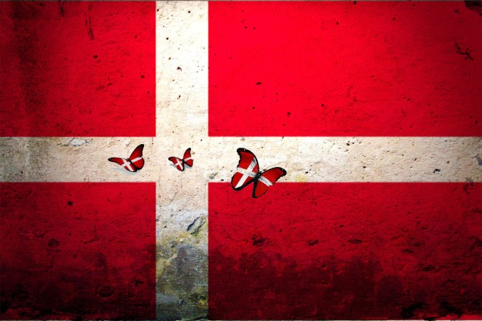 denmark butterfly flag